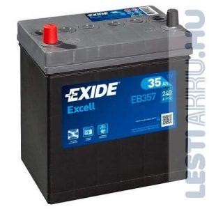 EXIDE Excell Autó Akkumulátor 12V 35Ah 240A Japán Bal+ (EB357)