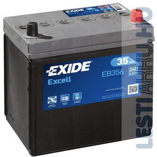 EXIDE Excell Autó Akkumulátor 12V 35Ah 240A Japán Jobb+ (EB356)