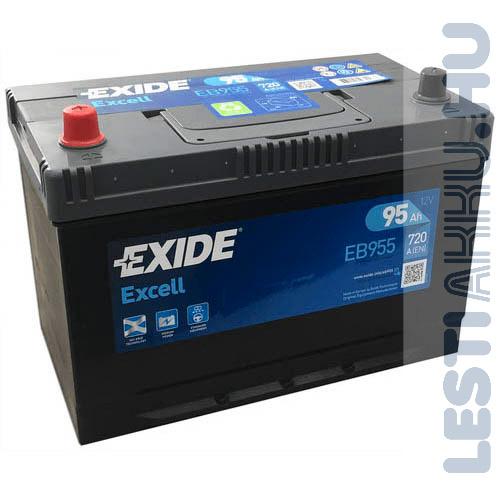 EXIDE Excell Autó Akkumulátor 12V 95Ah 720A Japán Bal+ (EB955)