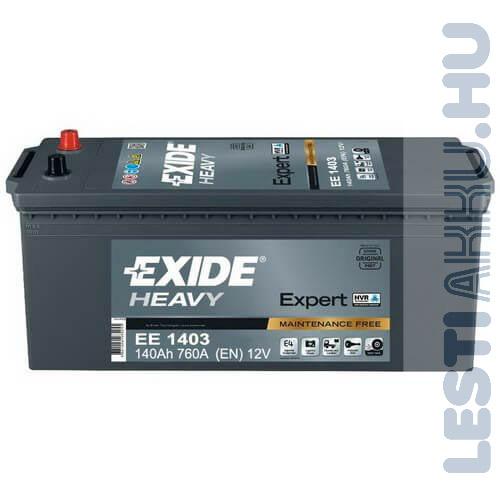 EXIDE Heavy Expert Teherautó Akkumulátor 12V 140Ah 760A Bal+ (EE1403)