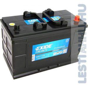 EXIDE Heavy Professional Teherautó Akkumulátor 12V 110Ah 750A IVECO Talpas Jobb+ (EG1102)