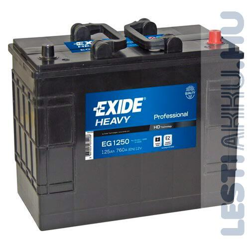 EXIDE Heavy Professional Teherautó Akkumulátor 12V 125Ah 760A JCB Jobb+ (EG1250)