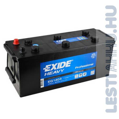 EXIDE Heavy Professional Teherautó Akkumulátor 12V 140Ah 800A Bal+ (EG1403)