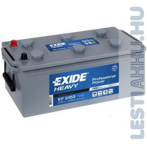 EXIDE Heavy Professional Teherautó Akkumulátor 12V 235Ah 1300A Bal+ (EF2353)