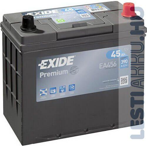 EXIDE Premium Autó Akkumulátor 12V 45Ah 390A Japán Jobb+ (EA456)