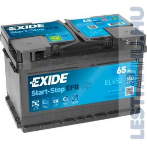 EXIDE Start Stop EFB Autó Akkumulátor 12V 65Ah 650A Jobb+ (EL652)