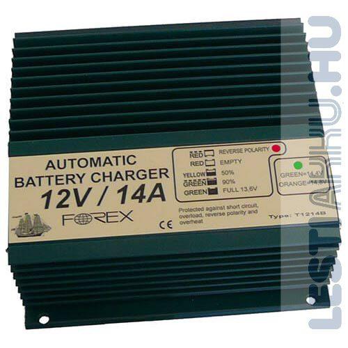 FOREX 12V 14Amp Akkumulátor töltő (T1214B)