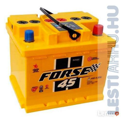 FORSE Autó Akkumulátor 12V 45Ah 450A Jobb+