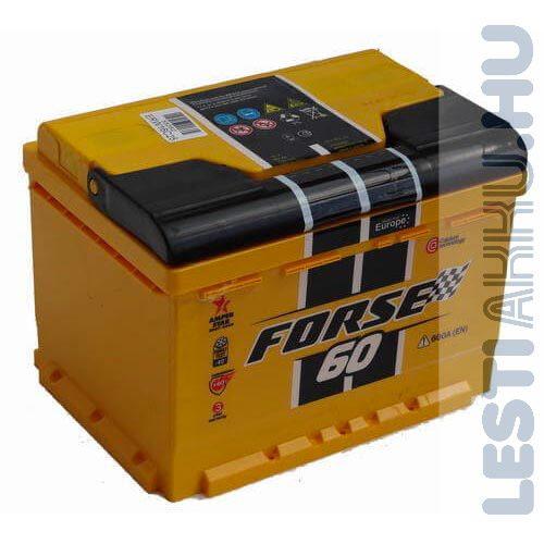 FORSE Autó Akkumulátor 12V 60Ah 600A Jobb+