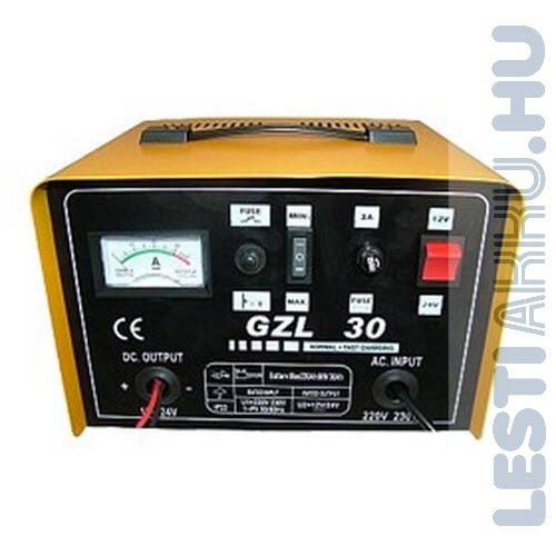 GIANT GLZ 30 Akkumulátor töltő 12V 24 Amp/24V 12Amp