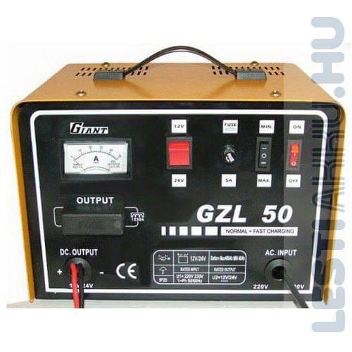 GIANT GZL 50 Akkumulátor töltő 12V 30 Amp/24V 20 Amp