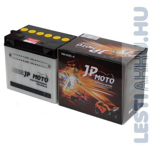 JP MOTO Motor Akkumulátor Y60-N30L-A 12V 30Ah 300A Jobb+