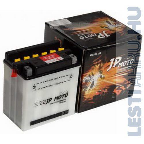 JP MOTO Motor Akkumulátor YB10L-A2 12V 11Ah 140A Jobb+
