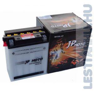 JP MOTO Motor Akkumulátor YB12AL-A2 12V 12Ah 135A Jobb+