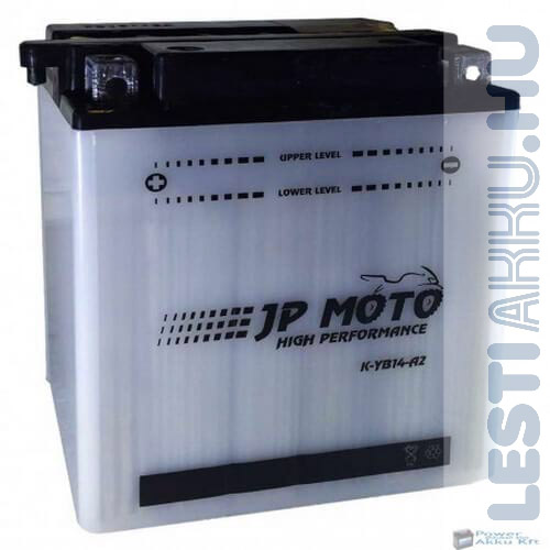 JP MOTO Motor Akkumulátor YB14-A2 12V 14Ah 160A Bal+