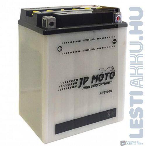 JP MOTO Motor Akkumulátor YB14-B2 12V 14Ah 160A Bal+