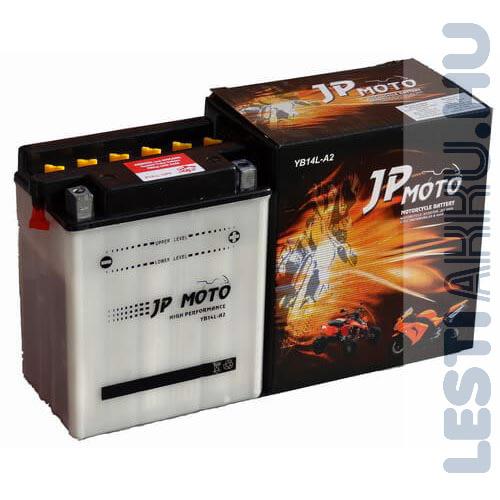 JP MOTO Motor Akkumulátor YB14L-A2 12V 14Ah 160A Jobb+