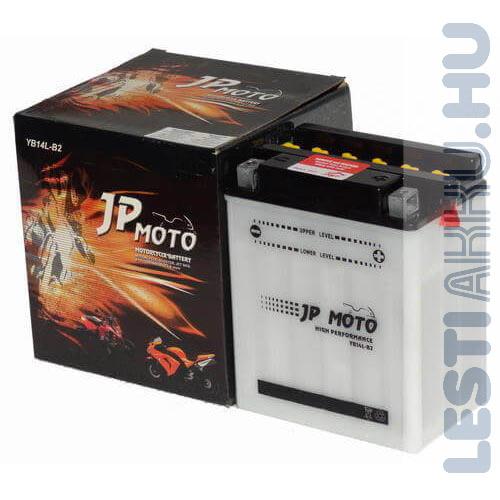 JP MOTO Motor Akkumulátor YB14L-B2 12V 14Ah 160A Jobb+