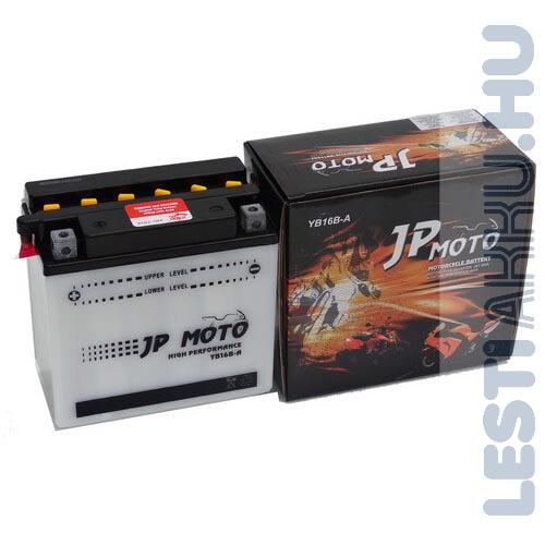 JP MOTO Motor Akkumulátor YB16B-A 12V 16Ah 180A Bal+