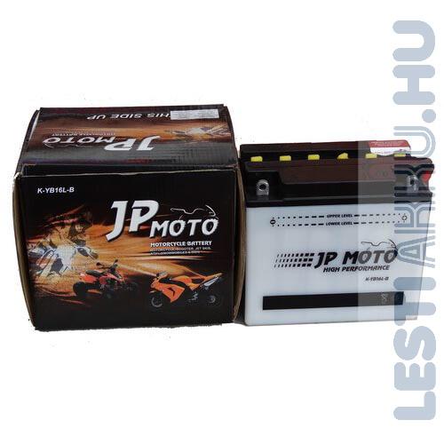 JP MOTO Motor Akkumulátor YB16L-B 12V 19Ah 230A Jobb+