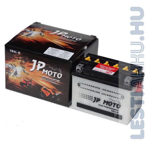 JP MOTO Motor Akkumulátor YB4L-B 12V 4Ah 40A Jobb+