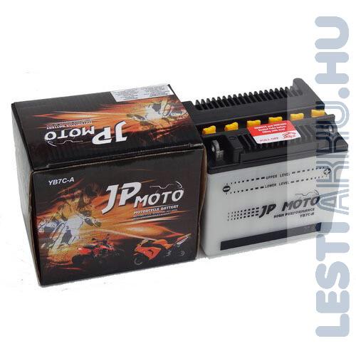 JP MOTO Motor Akkumulátor YB7C-A 12V 8Ah 80A Jobb+