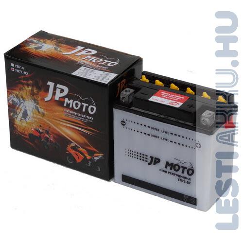 JP MOTO Motor Akkumulátor YB7L-B2 12V 8Ah 90A Jobb+