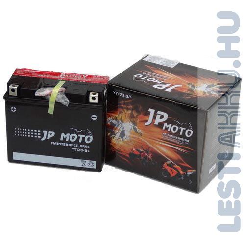 JP MOTO Motor Akkumulátor YT12B-BS 12V 10Ah 115A Bal+
