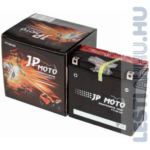 JP MOTO Motor Akkumulátor YT14B-BS 12V 12Ah 135A Bal+
