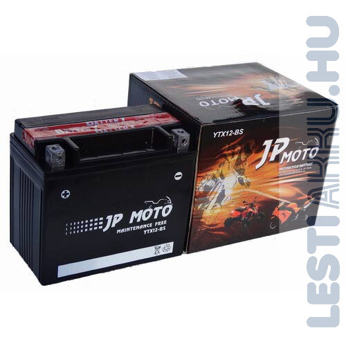 JP MOTO Motor Akkumulátor YTX12-BS 12V 10Ah 160A Bal+