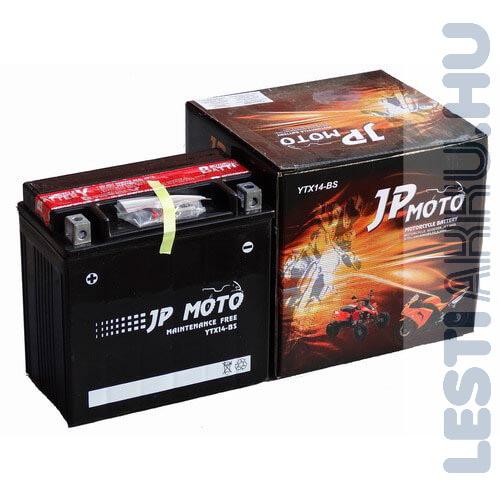 JP MOTO Motor Akkumulátor YTX14-BS 12V 12Ah 180A Bal+