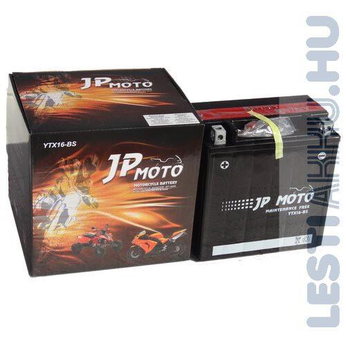 JP MOTO Motor Akkumulátor YTX16-BS 12V 14Ah 200A Bal+