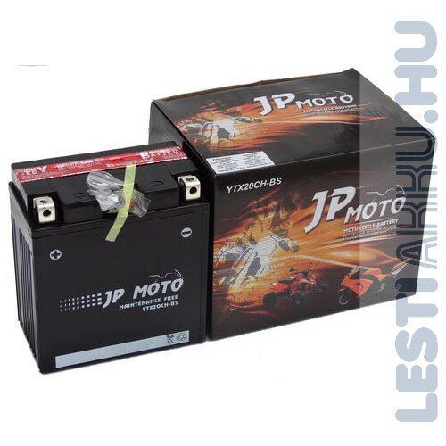 JP MOTO Motor Akkumulátor YTX20CH-BS 12V 18Ah 220A Bal+