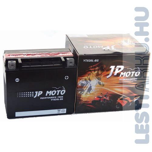 JP MOTO Motor Akkumulátor YTX20L-BS 12V 18Ah 210A Jobb+