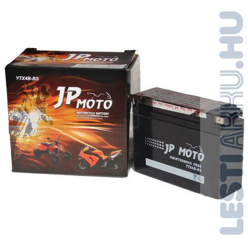 JP MOTO Motor Akkumulátor YTX4B-BS (YT4B-BS) 12V 2