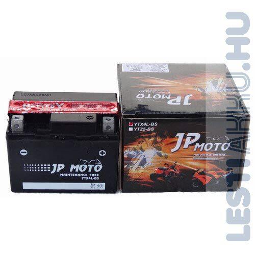 JP MOTO Motor Akkumulátor YTX4L-BS 12V 3Ah 40A Jobb+