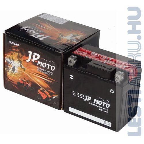 JP MOTO Motor Akkumulátor YTX5L-BS 12V 4Ah 55A Jobb+