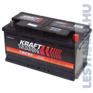 KRAFTMANN Autó Akkumulátor 12V 100Ah 830A Jobb+