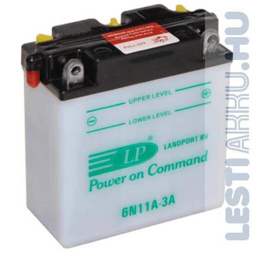 Landport Motor Akkumulátor 6N11A-3A 6V 11Ah 88A Jobb+