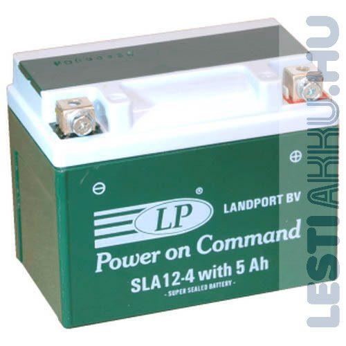 Landport Motor Akkumulátor SLA 12-4W5 12V 5Ah 45A Jobb+