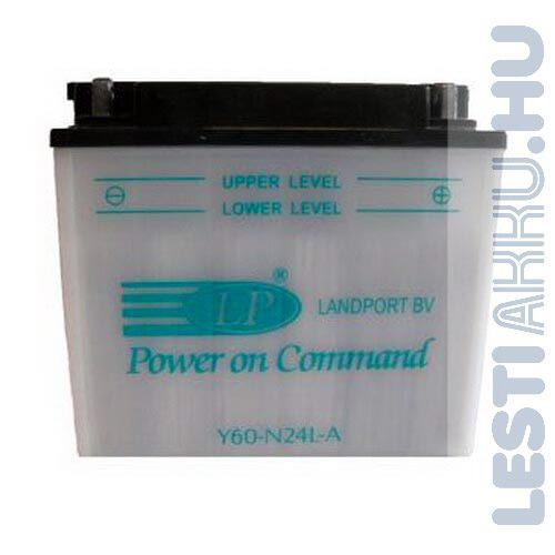 Landport Motor Akkumulátor Y60-N24L-A 12V 28Ah 260A Jobb+