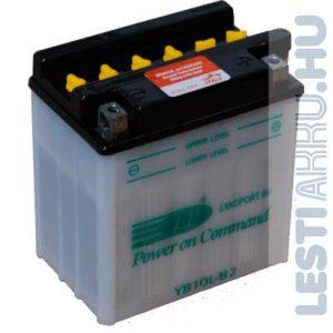 Landport Motor Akkumulátor YB10L-B2 12V 11Ah 140A Jobb+