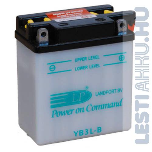 Landport Motor Akkumulátor YB3L-B 12V 3Ah Jobb+