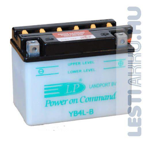 Landport Motor Akkumulátor YB4L-B 12V 4Ah Jobb+