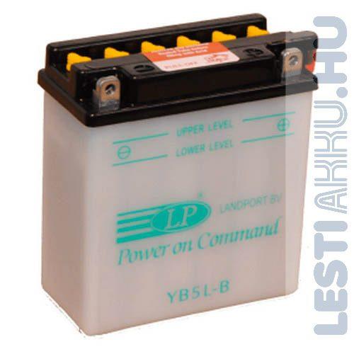 Landport Motor Akkumulátor YB5L-B 12V 5Ah 50A Jobb+