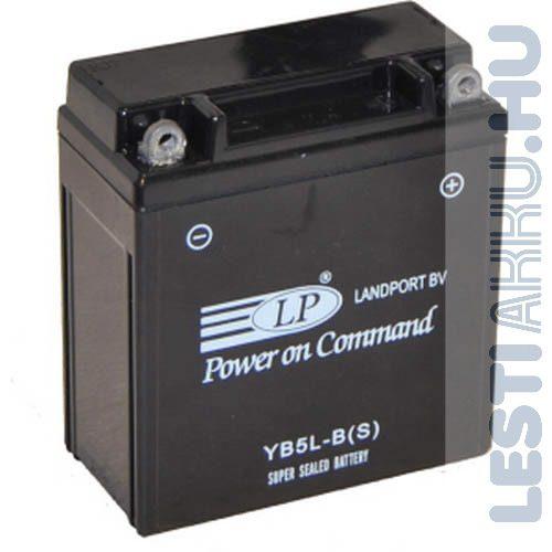 Landport Motor Akkumulátor YB5L-B(S) 12V 5Ah 65A Jobb+