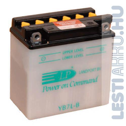 Landport Motor Akkumulátor YB7L-B 12V 8Ah Jobb+