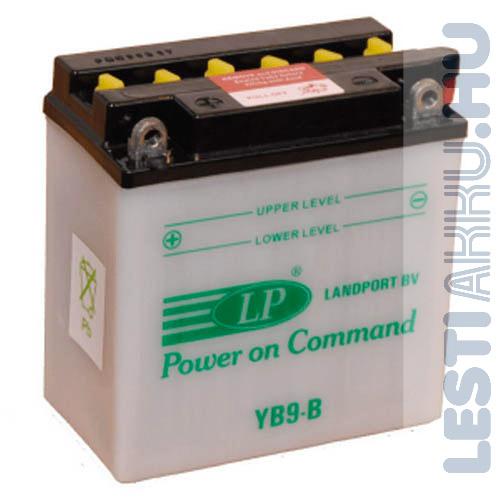Landport Motor Akkumulátor YB9-B 12V 9Ah 115A Bal+