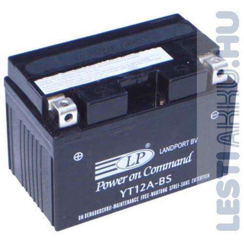 Landport Motor Akkumulátor YT12A-BS 12V 11Ah Bal+