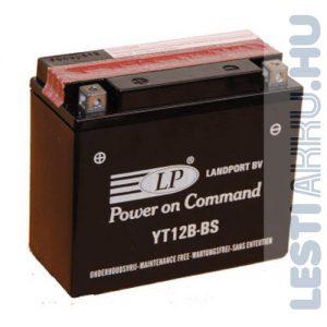 Landport Motor Akkumulátor YT12B-BS  12V 10Ah 140A Bal+